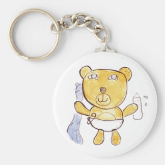 Babybär mit Milchflasche keychain Schlüsselanhänger