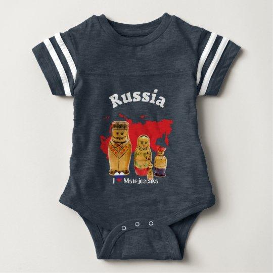Babybody Matrjoschka, Matryoshka, Babuschka Baby Strampler