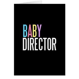 Babydirektorn-Grußkarte (Willkommen zur Welt) Karte