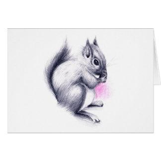 Babyeichhörnchen Grußkarte