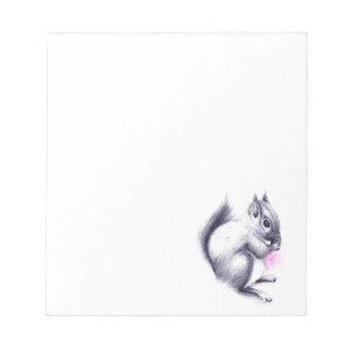 Babyeichhörnchen Notizblock