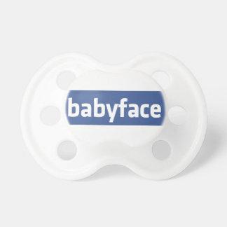 babyface lustige Sozialvernetzungs-Parodie Schnuller