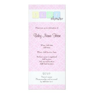 Babyparty 10,2 X 23,5 Cm Einladungskarte