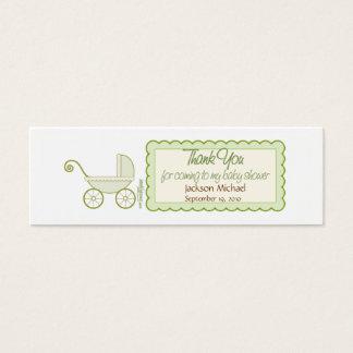 Babyparty-Bevorzugungs-Umbau Mini Visitenkarte