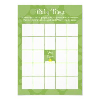 Babyparty-Bingo - Ducky Gummithema - Grün 12,7 X 17,8 Cm Einladungskarte