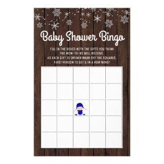 Babyparty-Bingo-Jungen-rustikales 14 X 21,6 Cm Flyer