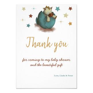 Babyparty danken Ihnen, mit einem Drachen in einem Karte