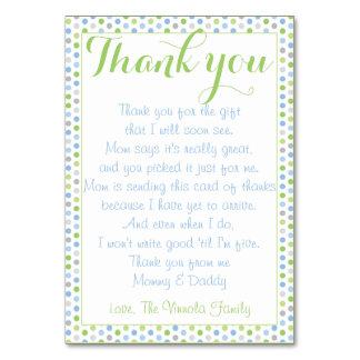 Babyparty danken Ihnen vom Baby Karte