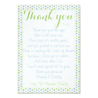 Babyparty danken Ihnen von Baby Karte