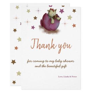 Babyparty danken Ihnen zu kardieren für Karte