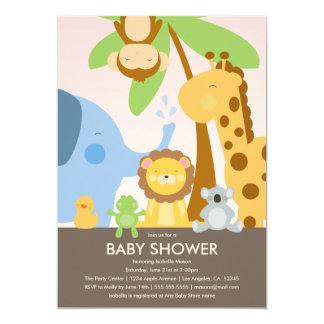 Babyparty der Baby-Tier-  laden ein 12,7 X 17,8 Cm Einladungskarte