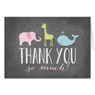 Babyparty der Tier-| danken Ihnen zu kardieren Karte