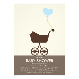 Babyparty des Spaziergänger-  laden ein 12,7 X 17,8 Cm Einladungskarte