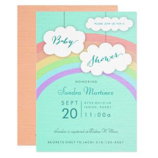 Babyparty-Einladung des Geschlechts-neutrale 12,7 X 17,8 Cm Einladungskarte