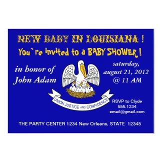 Babyparty-Einladung mit Flagge von Louisiana 12,7 X 17,8 Cm Einladungskarte