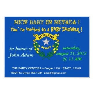 Babyparty-Einladung mit Flagge von Nevada 12,7 X 17,8 Cm Einladungskarte