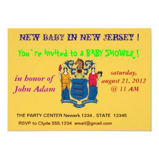 Babyparty-Einladung mit Flagge von New-Jersey 12,7 X 17,8 Cm Einladungskarte