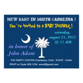 Babyparty-Einladung mit Flagge von South Carolina