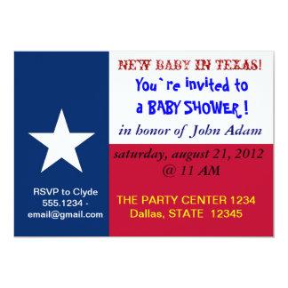 Babyparty-Einladung mit Flagge von Texas 12,7 X 17,8 Cm Einladungskarte