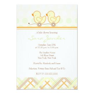 Babyparty-Einladung - Zwillinge 12,7 X 17,8 Cm Einladungskarte