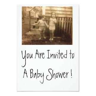 Babyparty-Einladungen flach doppelseitig 12,7 X 17,8 Cm Einladungskarte