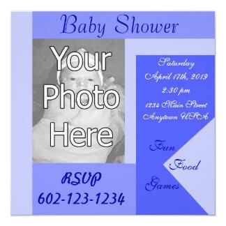Babyparty-Einladungen Quadratische 13,3 Cm Einladungskarte