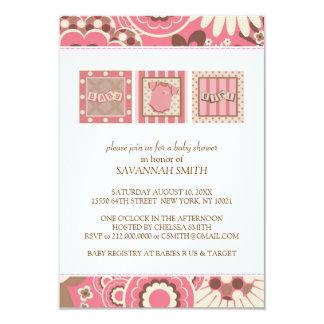 Babyparty-Einladungen (Rosa)