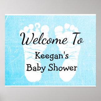 Babyparty-Fahnen-Plakat für Jungen-blaue Poster