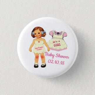 Babyparty für Juni-Knopf Runder Button 3,2 Cm