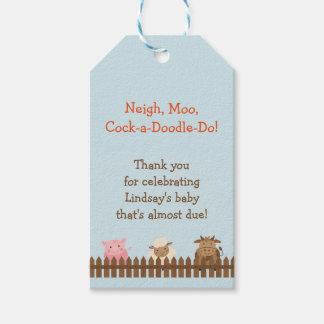 Babyparty-Geschenk-Umbau mit Vieh Geschenkanhänger