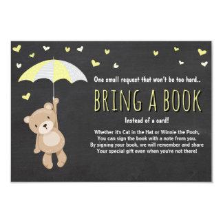 Babyparty holen eine Buch-Teddybär-Gelb-neutrale 8,9 X 12,7 Cm Einladungskarte