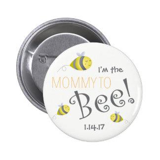 Babyparty-Knopf für neue Mama zur Biene Runder Button 5,1 Cm