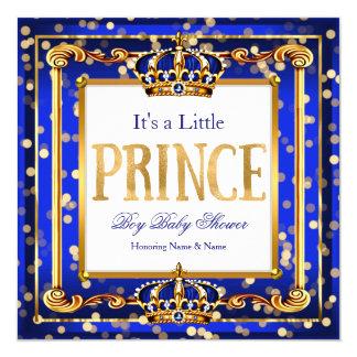 Babyparty-Königsblau-Gold Bokeh Prinz-Boy Karte