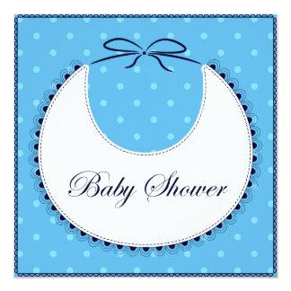 Babyparty mit Schellfischblau Karte