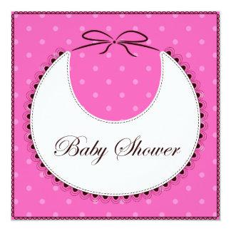 Babyparty mit Schellfischrosa Karte