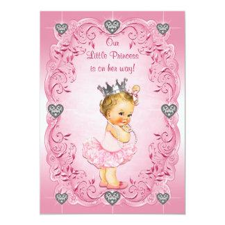 Babyparty Prinzessin-Ballerina Diamond Hearts 12,7 X 17,8 Cm Einladungskarte