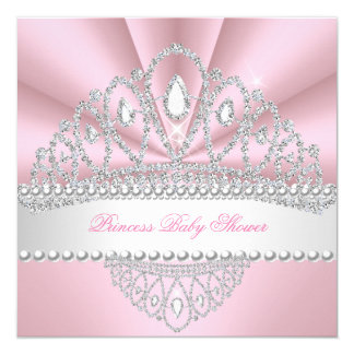 Babyparty Prinzessin-Pink Pearls Diamond Tiara