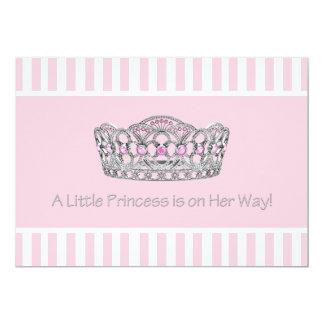 Babyparty Prinzessin-Tiara Pink Prinzessin Girl 12,7 X 17,8 Cm Einladungskarte