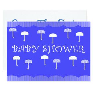 Babyparty-Regenschirme blau Karte