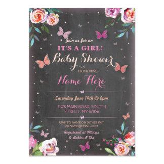 Babyparty-Schmetterling ist es ein Mädchen, oder Karte