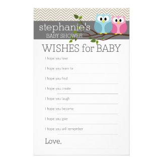Babyparty-Spiel-Wünsche 14 X 21,6 Cm Flyer