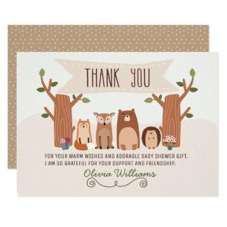 Babyparty-Waldtiere danken Ihnen zu kardieren Karte
