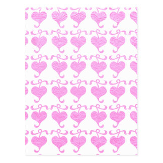 BabyPink seidener Glanz-Juwel-Druck Postkarte