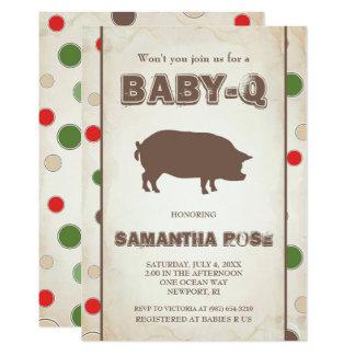 BabyQ Baby-Dusche, GRILLEN Baby Q laden ein 12,7 X 17,8 Cm Einladungskarte