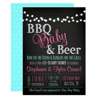 BabyQ Baby-Dusche GRILLEN-Baby und Bier Einladung