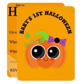 Babys 1. Halloween wenig Kürbis 10,8 X 14 Cm Einladungskarte