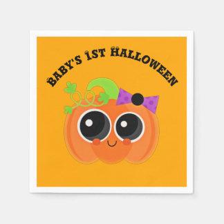 Babys 1. Halloween wenig Kürbis Papierserviette