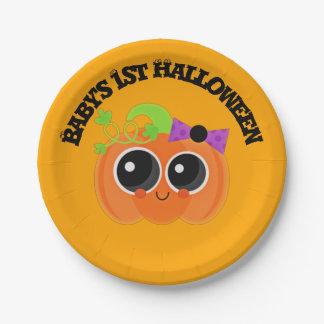 Babys 1. Halloween wenig Kürbis Pappteller 17,8 Cm