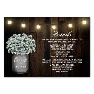 Babys Atem-Hochzeits-Empfangs-Anpassungs-Karten