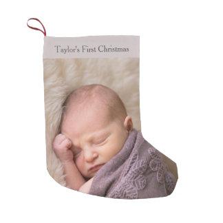 Babys erstes WeihnachtsFoto Kleiner Weihnachtsstrumpf